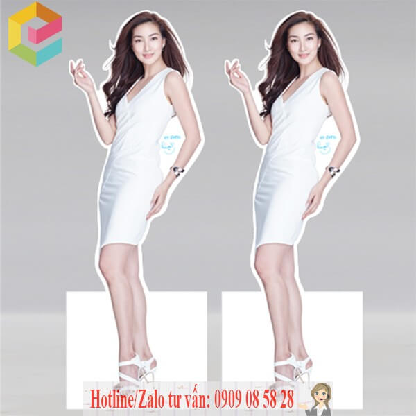 in standee hinh nguoi gia re