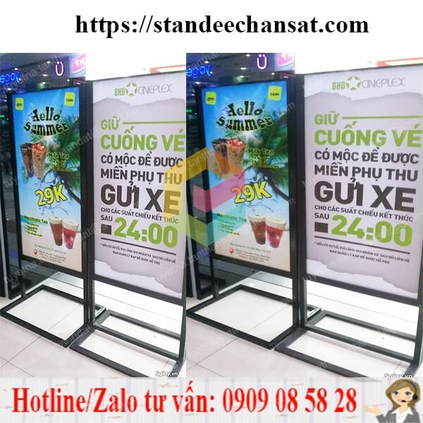 standee khung sat co dinh sai gon