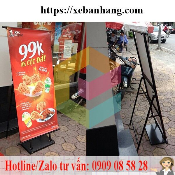 standee khung sat treo pp