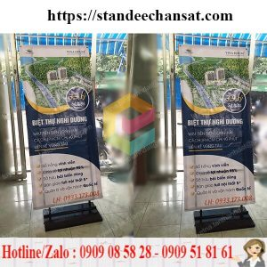 standee chan sat quang cao gia re