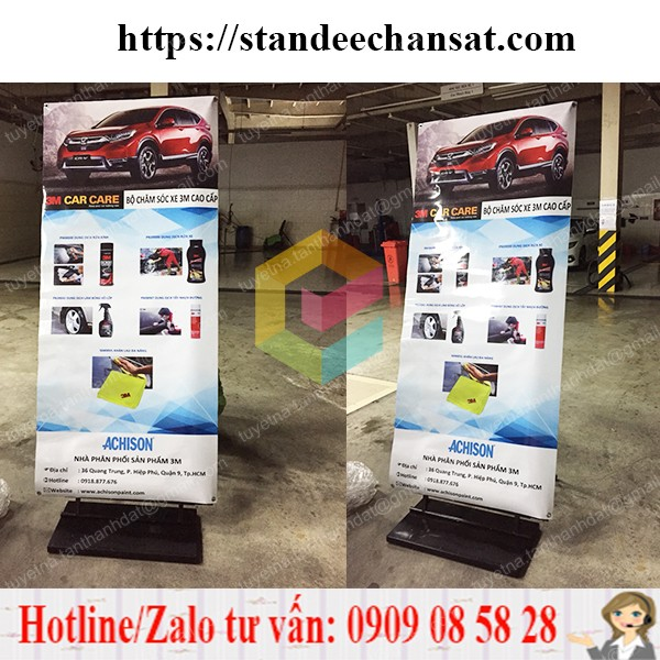 standee khung sat chong gio gia re