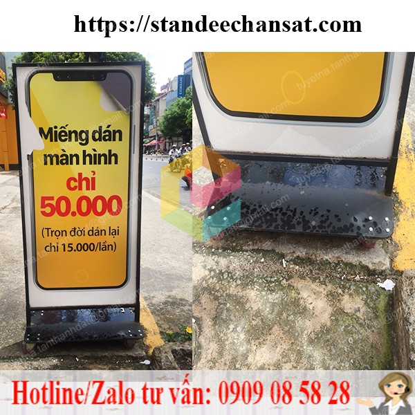standee khung sat quang cao chong gio