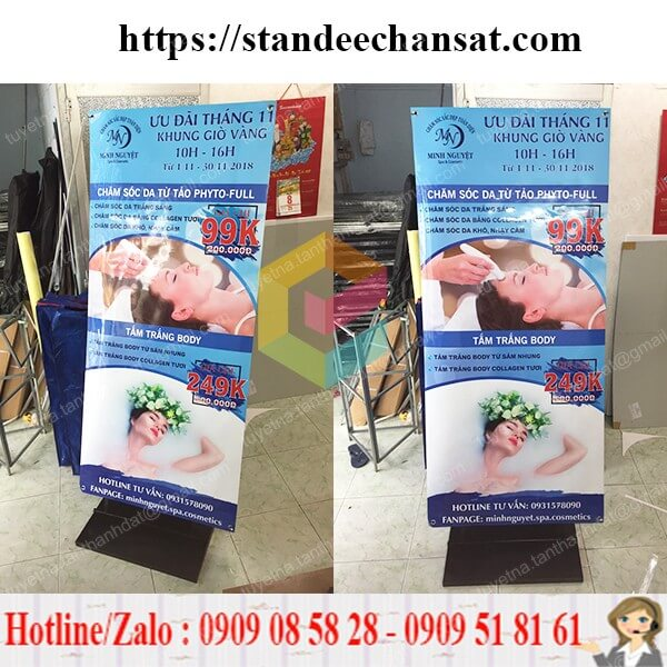 standee chan sat quang cao tpchm