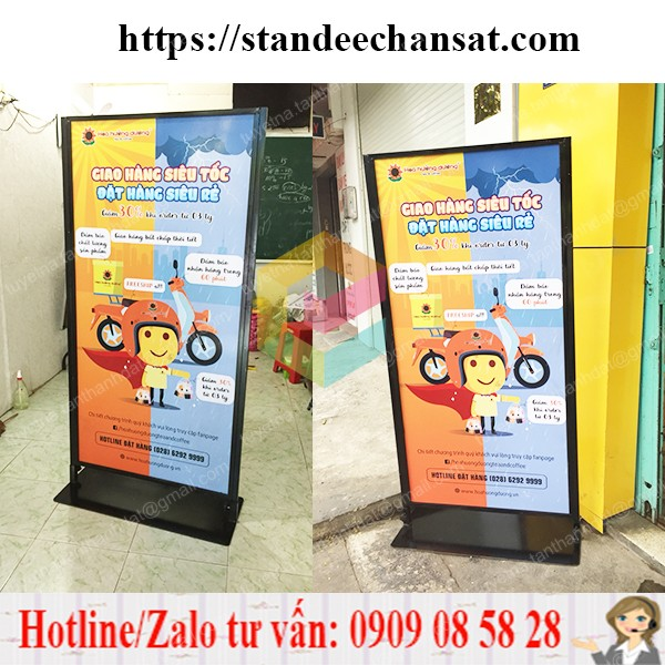 standee chan gio gia re