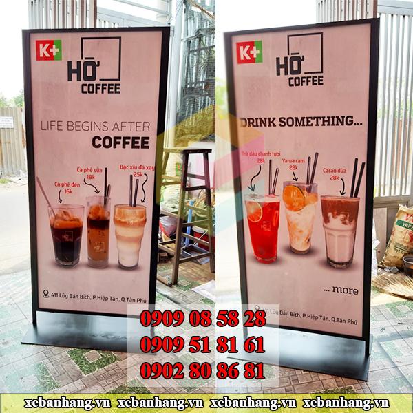 standee 2 mat quang cao quan cafe