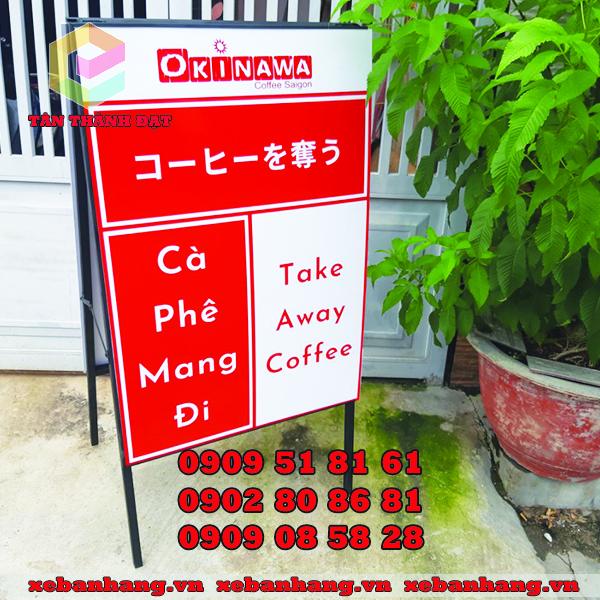 standee chu a quan cafe mini