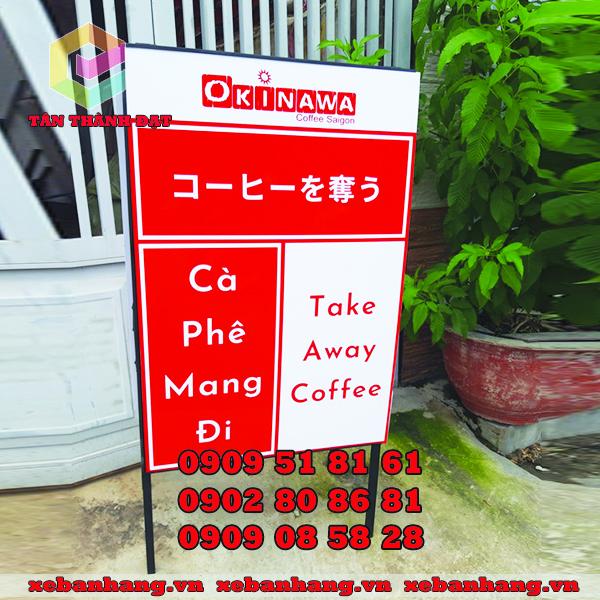 standee chu a quan cafe
