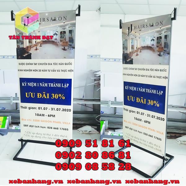 standee salon treo banner 2 mat