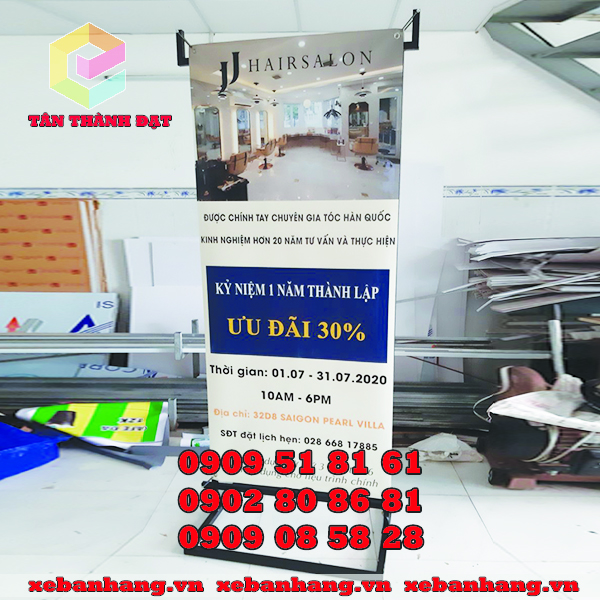 standee treo banner 2 mat quang cao salon
