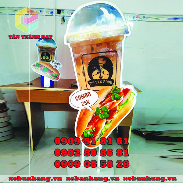 standee mo hinh cafe banh mi dep