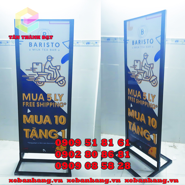 standee khung sat ban tra sua