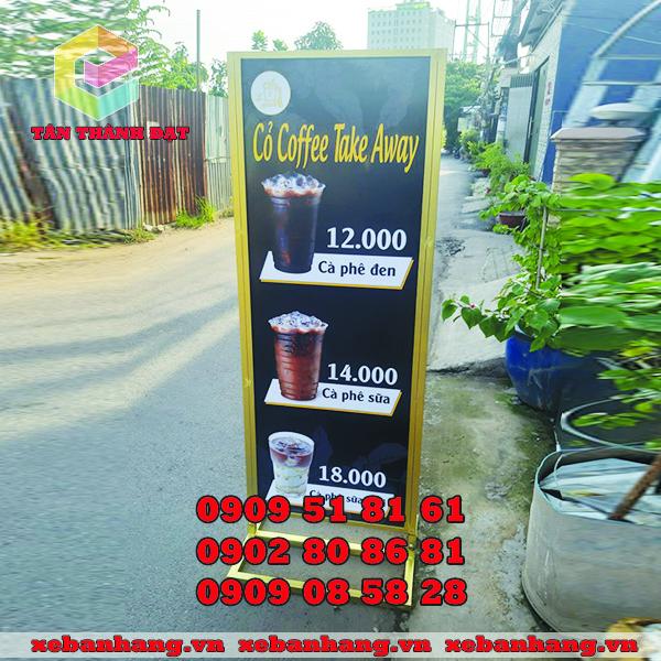 standee quang cao cafe mang di