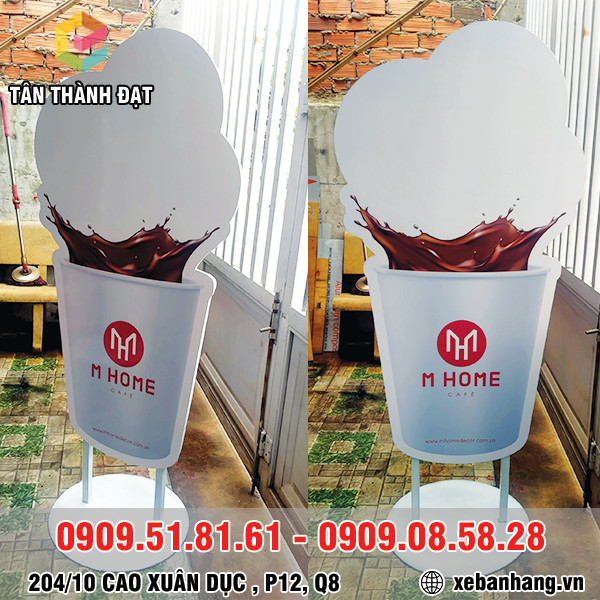 standee quang cao hinh ly ca phe gia re